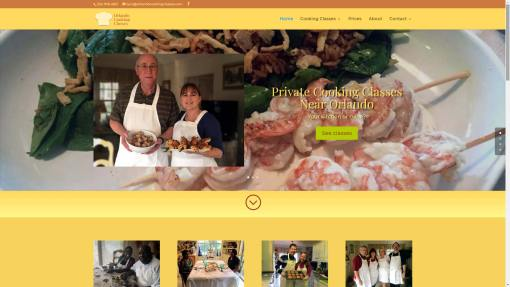 Orlando Cooking Classes Website Design