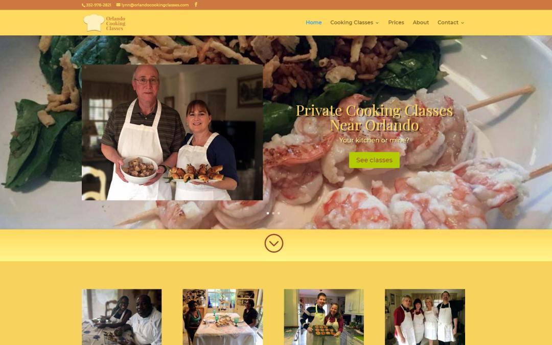 Orlando Cooking Classes Website Design