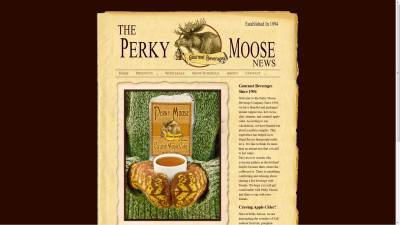 Perky Moose Website Design