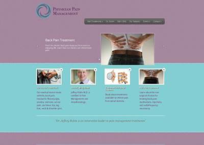 Physician Pain Management Website Design