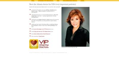 VIP Atlanta Doctors Website Design