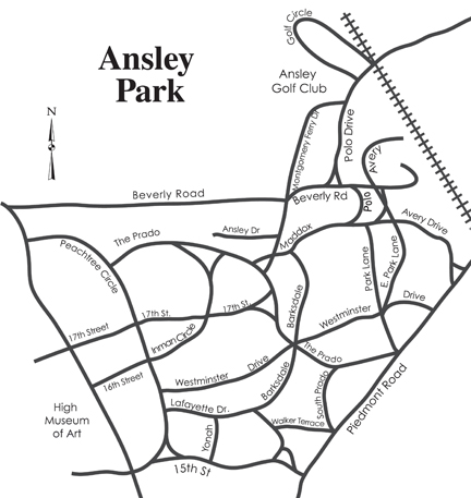Ansley Park Map