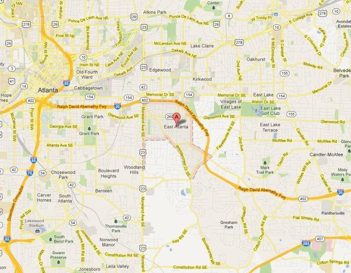 Map Of East Atlanta Ga
