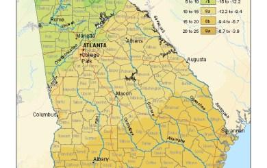 Plant Zone Map Georgia