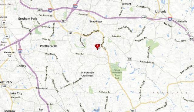 Lithonia Map Dekalb County GA Dogwood Manor Estates Location