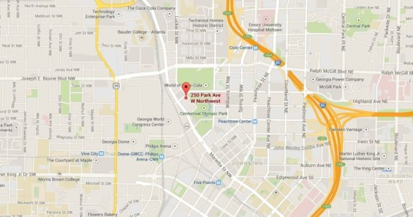 Atlanta Map Of Centennial Park West Condo Building