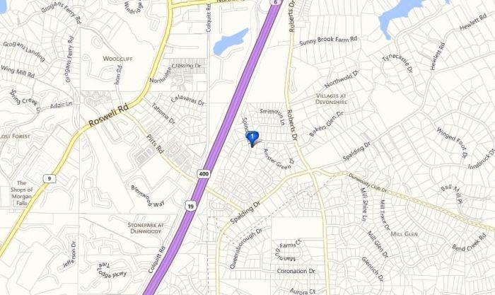 Spindlewick Sandy Springs Map Location Neighborhood