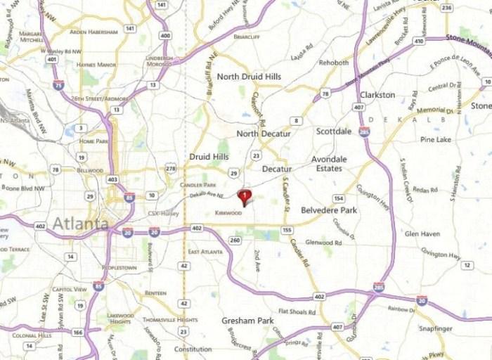 Map Location Of Hawthorn Park Kirkwood Community