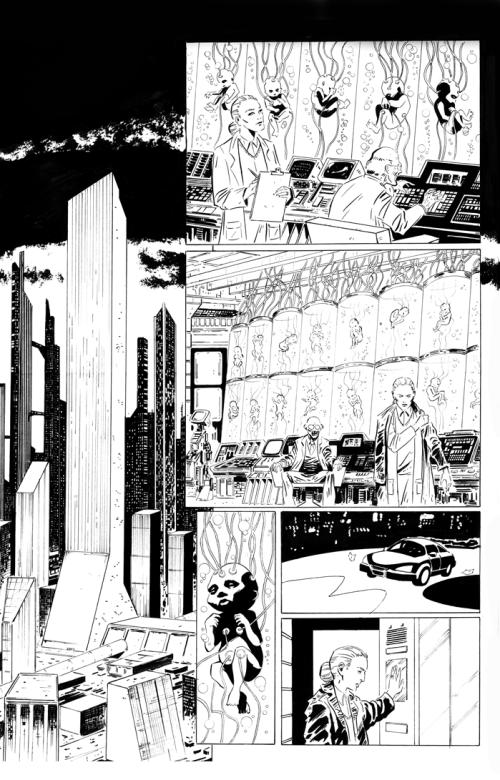 """Arte-final da página 1 de """"The Experiment"""""""