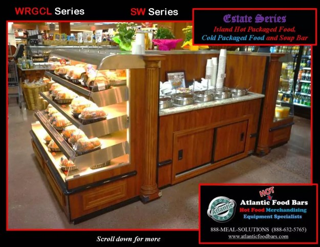 Atlantic Food Bars - Estate Series Custom Hot and Cold Packaged Food Island with Soup Bar 3