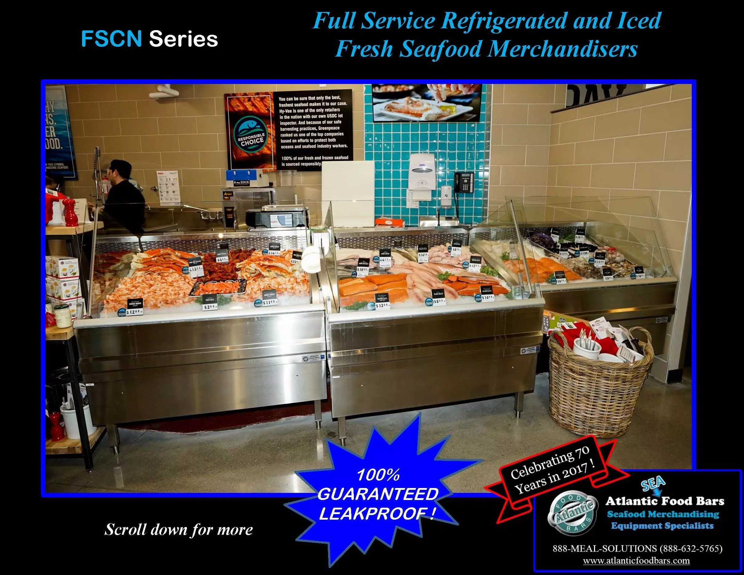 Atlantic Food Bars - Full Service Refrigerated and Iced Fresh Seafood Merchandisers - FSCN