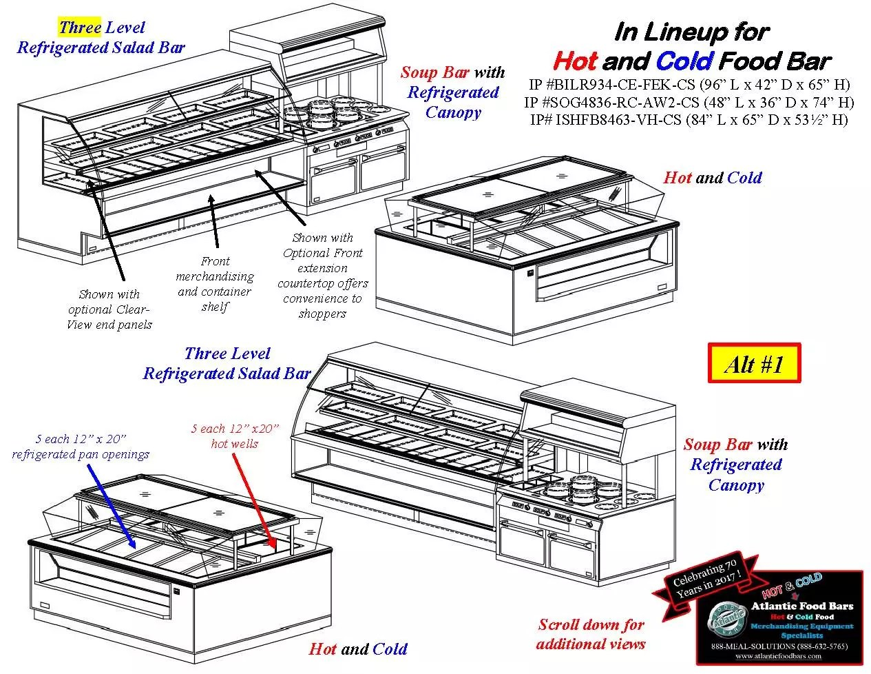 Atlantic Food Bars - Hot and Cold Display Case Lineup Drawings - BILR SOG ISHFB_Page_1
