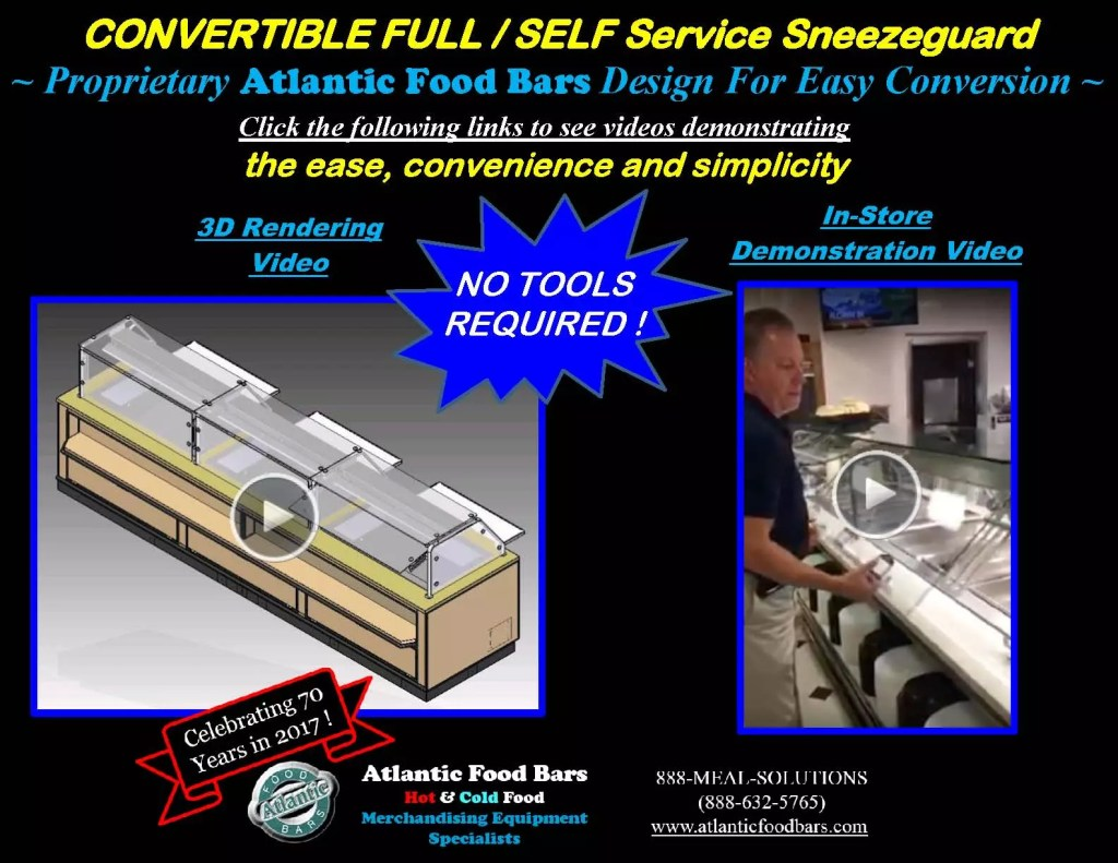 Atlantic Food Bars - Full or Self-Service Convertible Sneezeguard Designs_Page_1
