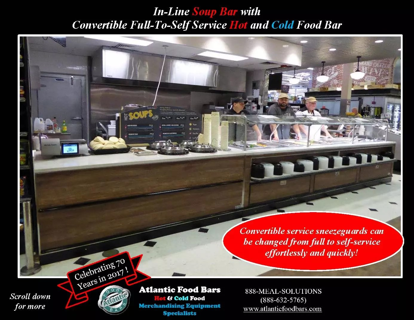 Atlantic Food Bars - Custom In-Line Soup Bar with Convertible Service Hot and Cold Food Bar_Page_1