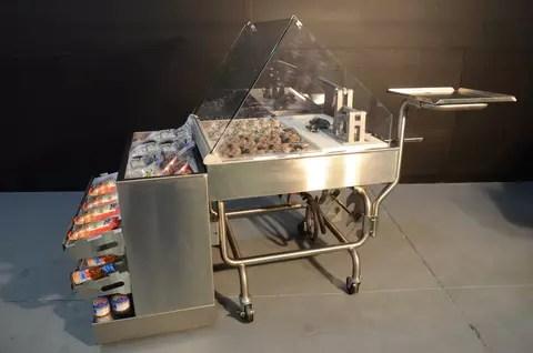 Mobile Oyster Shucking Station with Clam Bar - transforMerchandiser - Atlantic Food Bars - MIT3636-FSKT-MCB-OSSKT-SSKT 2