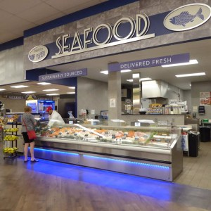Refrigerated Seafood Case with LED Lighting - Atlantic Food Bars - (2) FSCN9642-LED 1