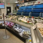 Custom Angled Ice-Only Non-Refrigerated Seafood Case with Front Grab and Go Bunkers - Atlantic Food Bars - FSM-KK 5