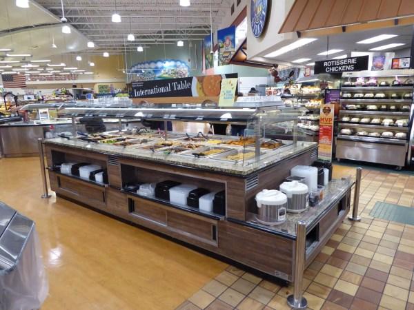 Island Hot Food Bar with Induction Hot Wells - Atlantic Food Bars - IHFB12666-IHW 1