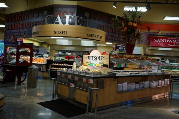 Island Salad Bar with Soup's On End-Cap Soup Merchandiser - Atlantic Food Bars - ISB14267 SOG6529-EN 2