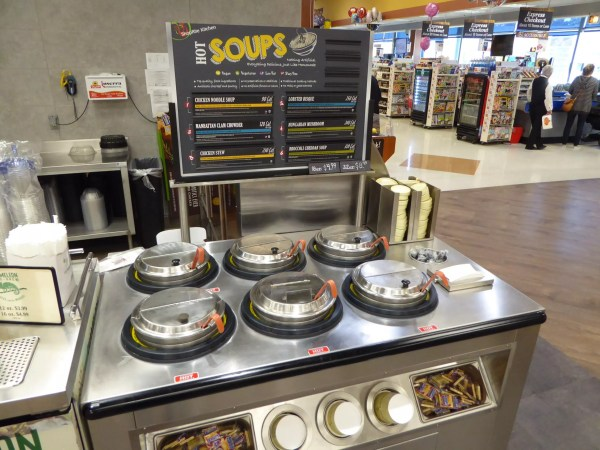 Low Profile Hot Grab & Go Chicken Merchandiser with 6-Well Soup Station WRGCL9637 SW6030 4