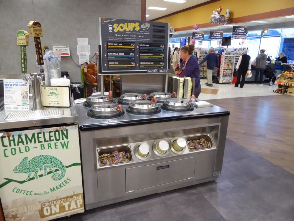 Low Profile Hot Grab & Go Chicken Merchandiser with 6-Well Soup Station WRGCL9637 SW6030 5