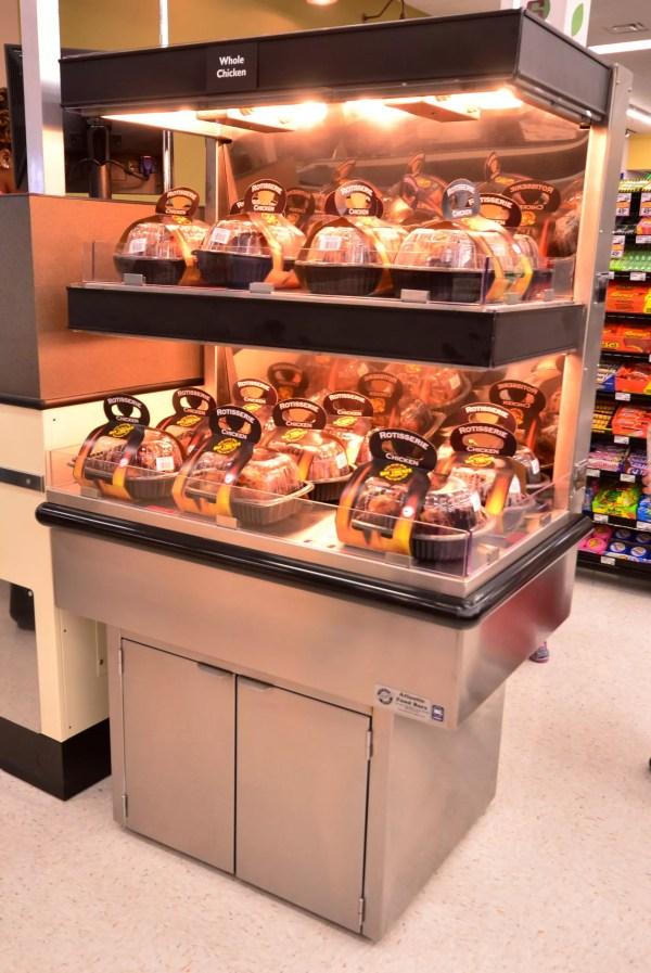 Low-Profile Two-Level Rotisserie Chicken Checkout Lane Merchandiser - Atlantic Food Bars - ECE2-3635 1
