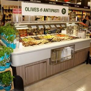 Narrow Air Underflow Refrigerated Island Salad & Olive Bar - Atlantic Food Bars - CISB7352 1