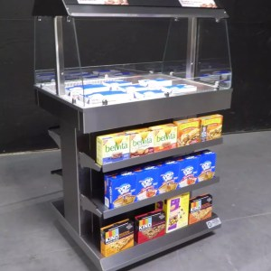 Next Gen Mobile Packaged Hot Food Merchandiser - Single Level - Atlantic Food Bars - HH3625-NG 4a