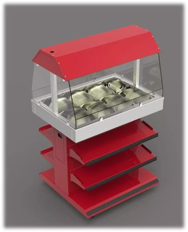 Next Gen Mobile Packaged Hot Food Merchandiser - Single Level - Atlantic Food Bars - HH3625-NG 5a