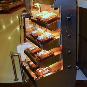 Wrangler Giant 3' Five Level Hot Chicken Merchandiser - Atlantic Food Bars - WR3629T-AS2-CE 1