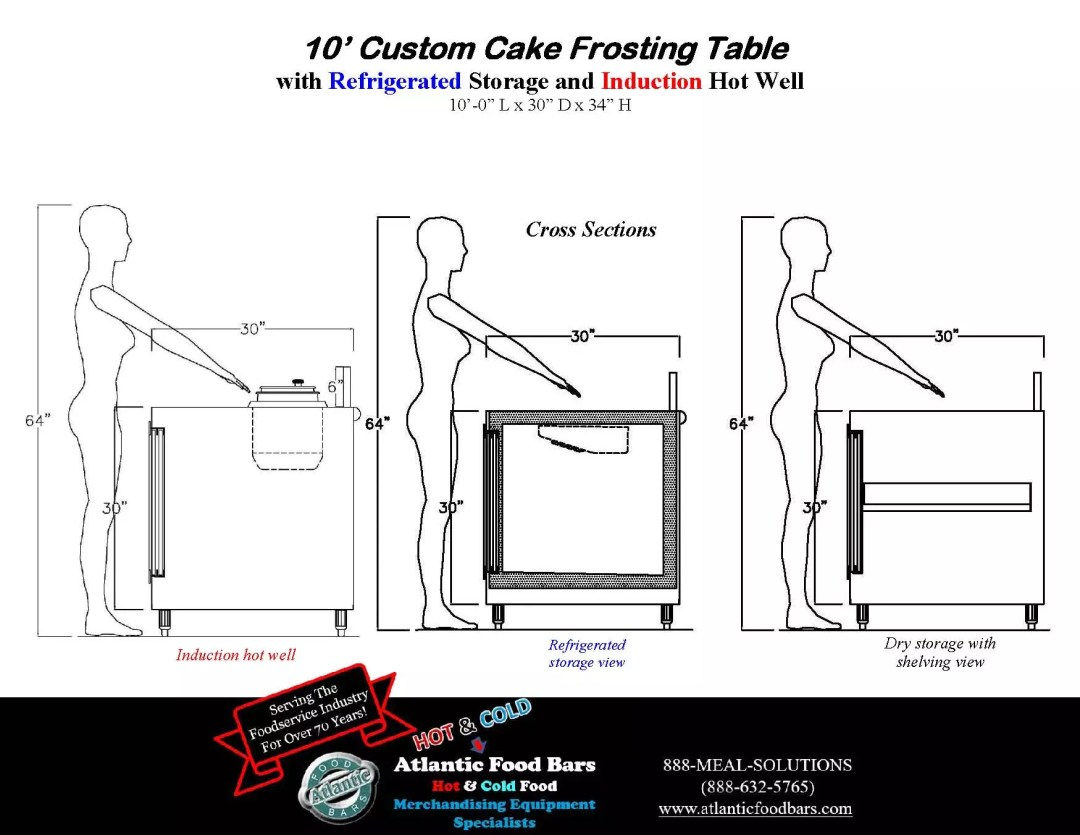 Atlantic Food Bars - 10' Custom Cake Frosting Table with Refrigerated Storage and Induction Hot Water Well to Sanitize Spatulas_Page_4