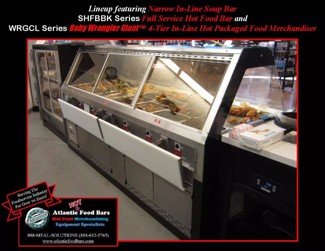 Atlantic Food Bars - Deli HMR Merchandising Displays - Custom Full Service Soup Bar, Hot Food Bar and Four Tier In-Line Hot Chicken Merchandiser - SHFBBK WRGCL_Page_2