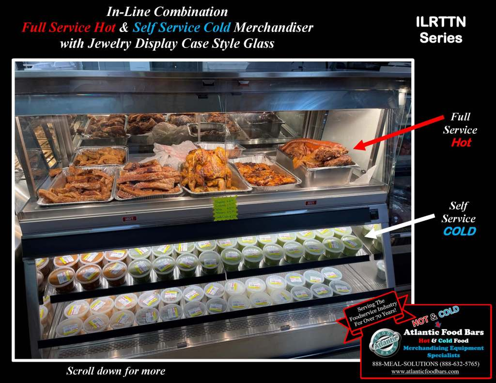 Atlantic Food Bars - Full Service Hot and Cold Deli Lineup with Jewelry Display Tops, Grab n Go and Dry Merchandising Wedge - SHFBJDC9639-AF, DCW4839, ILRTTN7248_Page_2