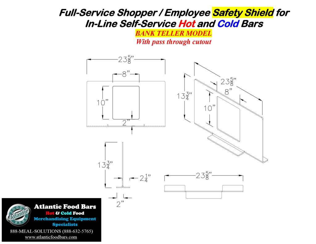 Atlantic Food Bars - The Shield - Lexan Full Service Conversion Kit for In-Line Cold and Hot Food Bars - AST_Page_7