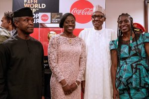 Buhari-Osinbajo-receive-FIFA-World-Cup-Trophy-hosts-Winter-Olympics-bobsleigh-team-and-CHAN-Eagles