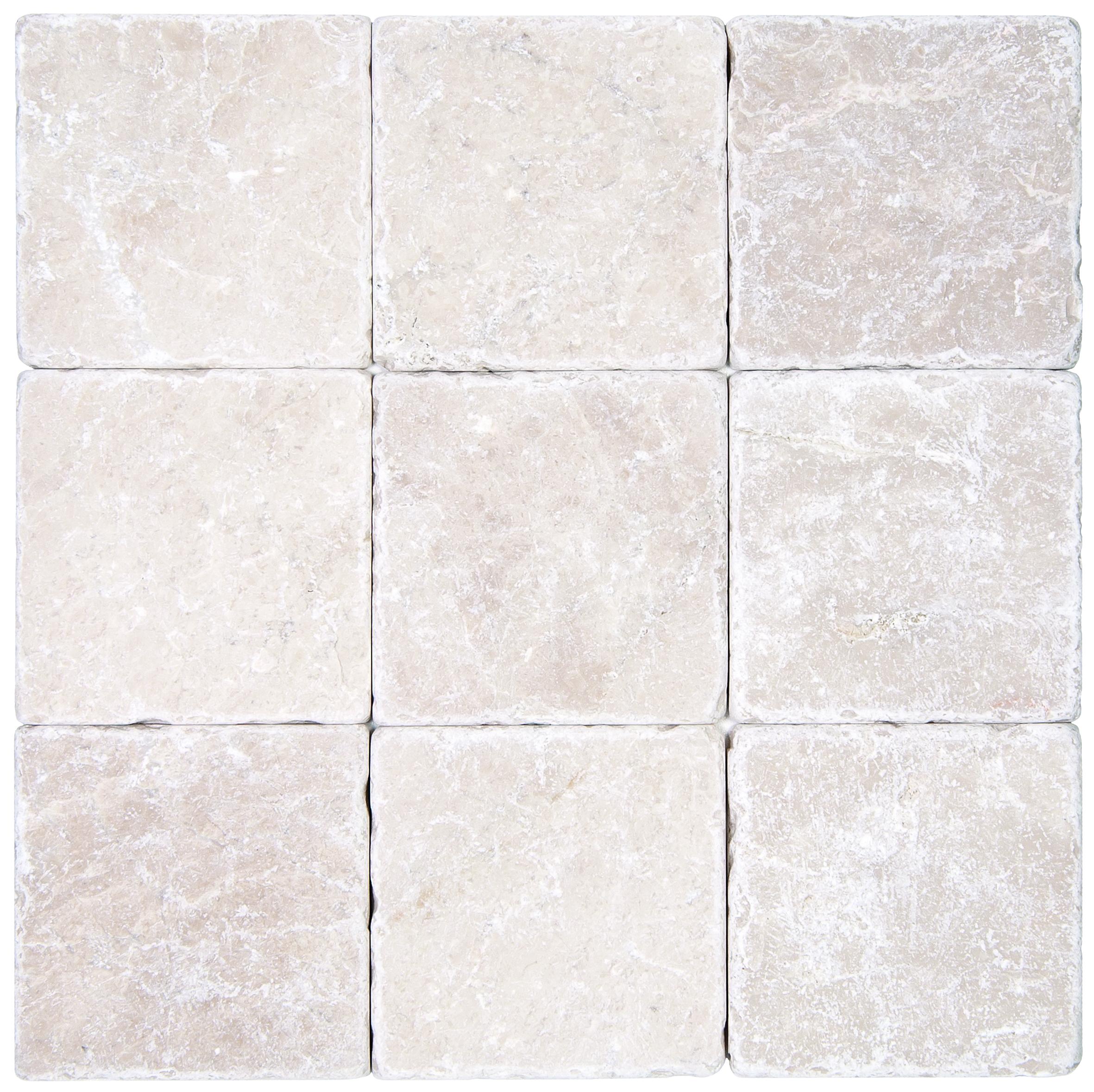 botticino beige tumbled marble mosaic
