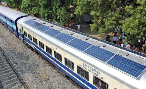 Solar-Powered Trains