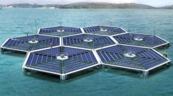 Floating solar power