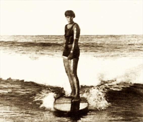 Isabel Letham. Isabel Letham (23 May 1899 – 11 March 1995). One of the first female surfers in the world. Photo by womenaustralia.info