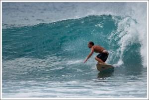 Surfing in Las Americas, Tenerife
