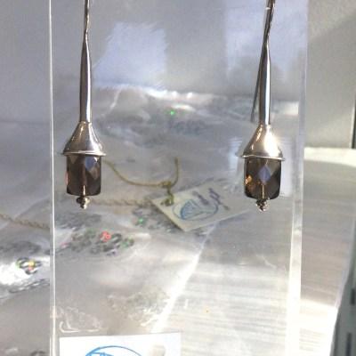 Smokey Quartz Faceted Earrings