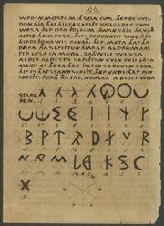 Abb. 2 Die Seite 48 aus der friesischsprachigen Originalfassung des Oera Linda Buches