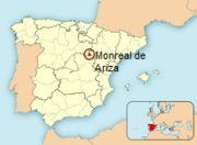 Abb. 5 Die geographische Lage von Monreal de Ariza in Spanien