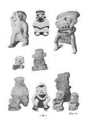 Abb. 2 Einige der vielen exotischen Figurinen, die William Niven im Tal von Mexiko entdeckte. Diese 'lästigen' Spezimen wurden später von Vertretern des archäologischen Mainstreams voreilig als Fälschungen abgetan.