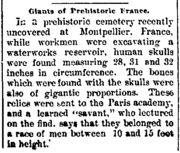 Abb. 11 Die Fundmeldung aus dem Oelwein Register vom 8. November 1894
