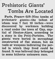 Abb. 7 Der Bericht über die Entdeckung bei Gap im Milwaukee Journal
