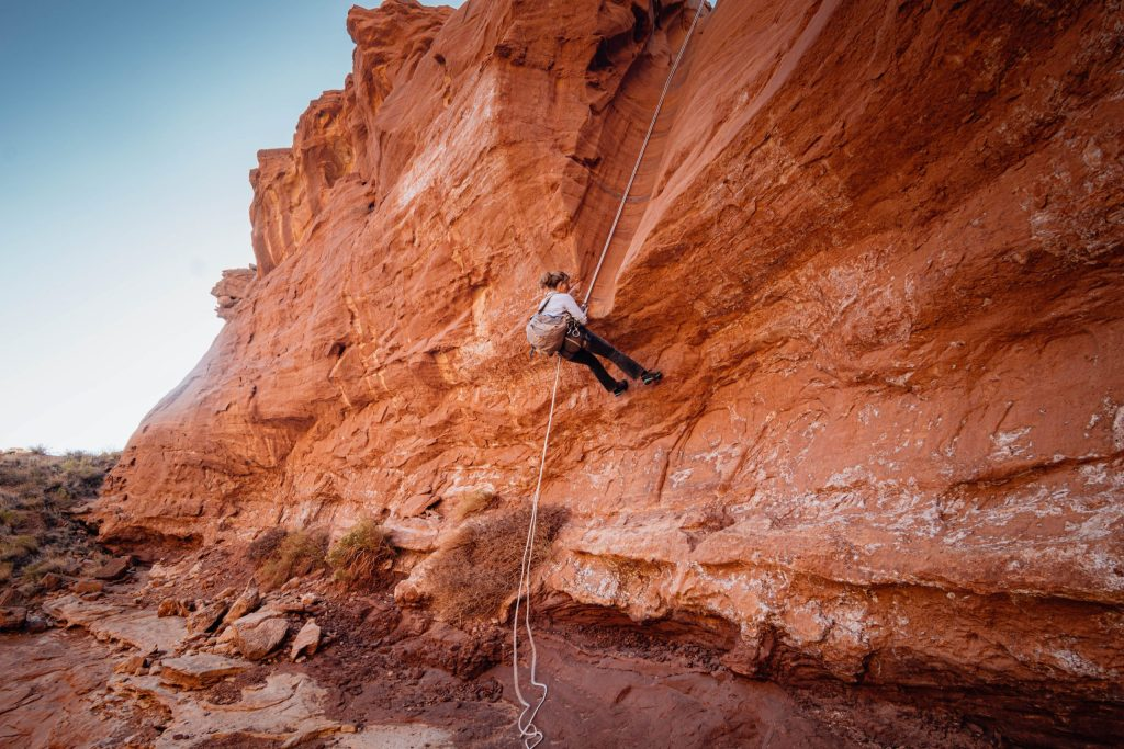 Rappelling into Blarney Slot Canyon: Beginner slot canyon