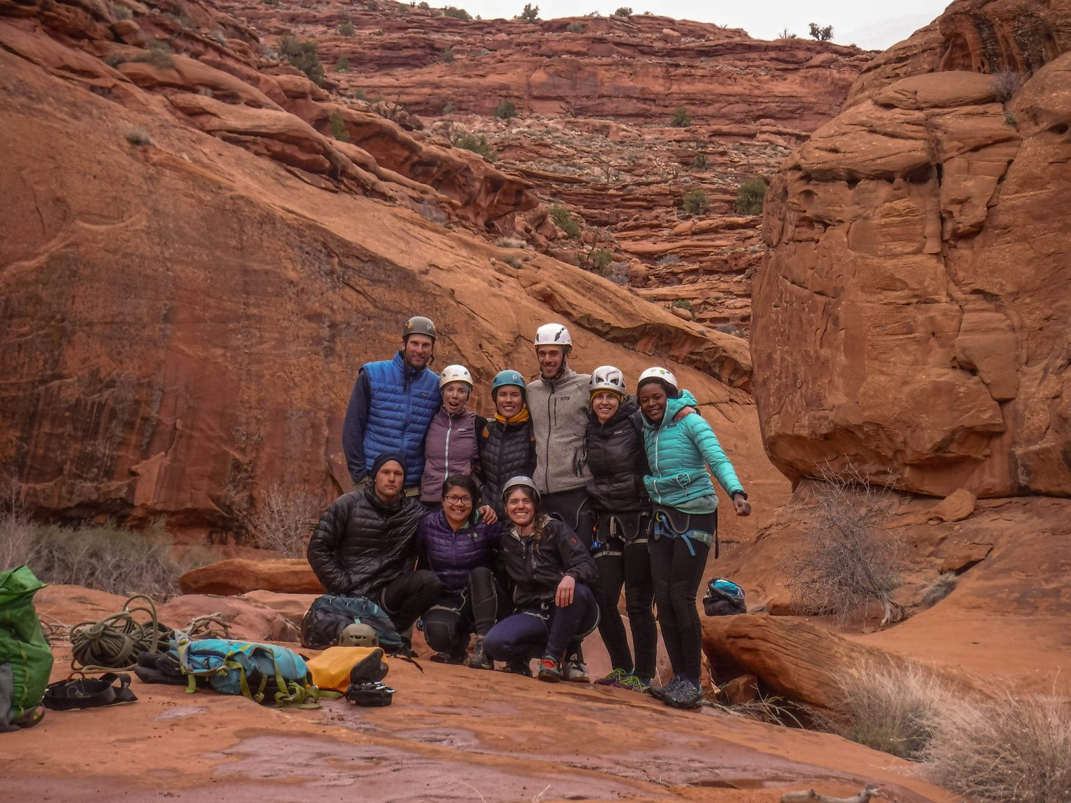 Group in Neon Canyon