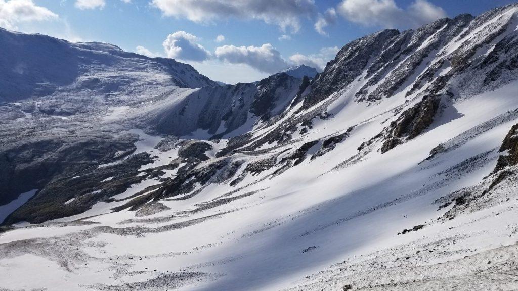 snowy Missouri Mountain