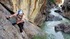 Climbing the Ouray Via Ferrata